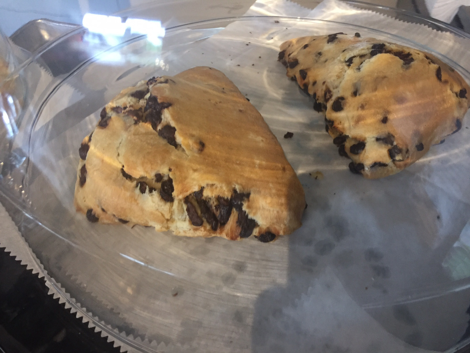 Chocolate chip scones on the counter during the grand opening of Box Bistro on Farmington Ave., Monday, July 17. |Ashley Kus, The Berlin Citizen