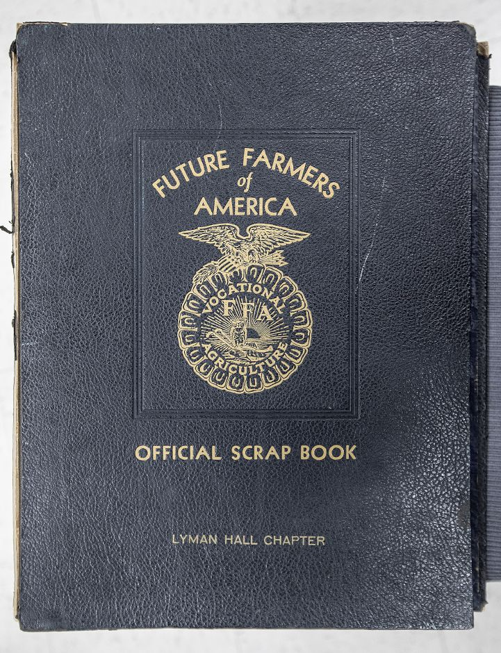 The first edition of the Future Farmers of America Official Scrap Book Lyman Hall Chapter is seen on  Tuesday. See more photos online at myrecordjournal.com
