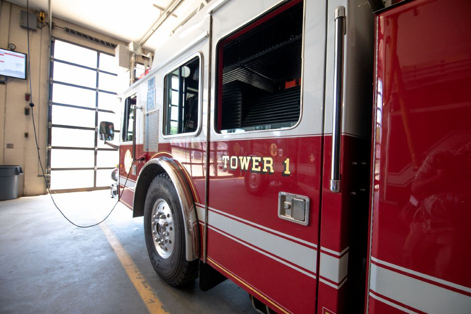 Plainville Fire Tower 1 sits inside the department