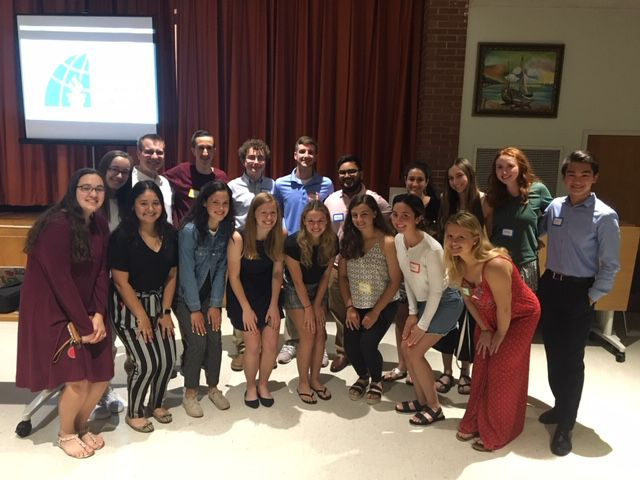 Berlin High School's Rho Kappa National Social Studies Honor Society visited the Senior Center in June.