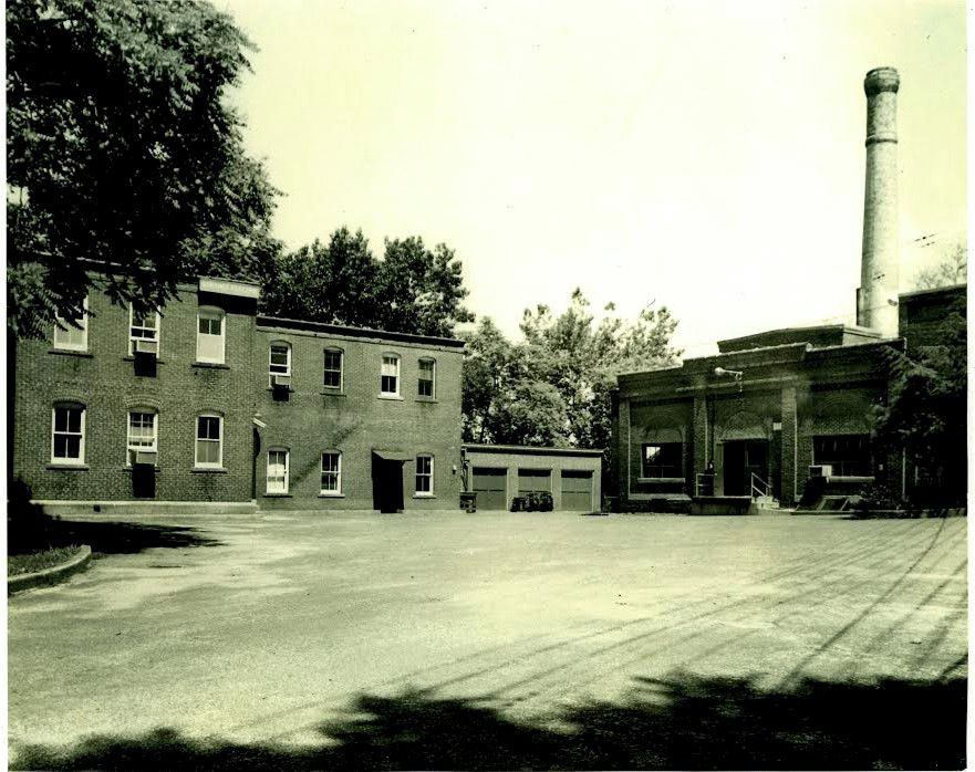 Wallingford Electric Division office building, left, and generating plant after the offices moved to John Street in 1963. | Courtesy of Robert Beaumont, Wallingford Historical Society