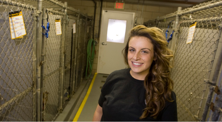 FILE PHOTO: Wallingford animal control officer Katie Ehlers, November 14, 2013. |  Dave Zajac / Record-Journal