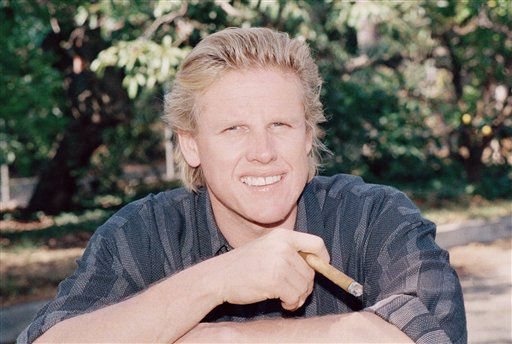 "Gary Busey spends a moment of relaxation recently in Los Angeles, Calif., November 14, 1988, after taping the upcoming HBO miniseries, ""A Dangerous Life,"" the story of the 1986 ""people revolution"" that brought down the government of Ferdinand Marcos. According to Busey, who was accompanied by four bodyguards and three trucks for his 54-week stay in the Philippines, the making of the three-part, six-hour series turned out nearly as difficult and hazardous as the revolution it re-creates. (AP Photo/Nick Ut)"
