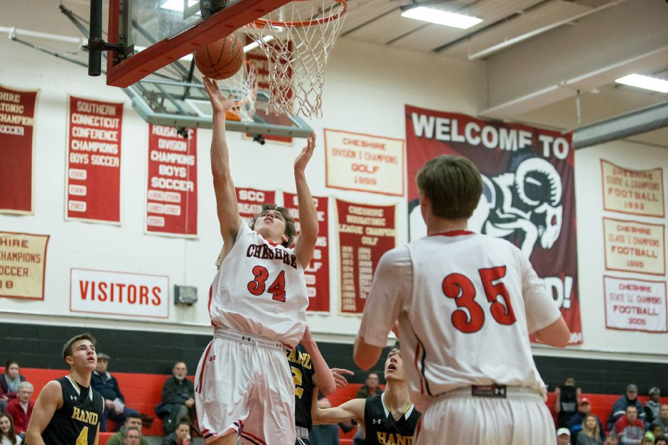 Eli Battipaglia had 11 points in Cheshire's fifth straight win Friday night, a 63-47 victory over Fairfield Prep. | Justin Weekes / Special to the Record-Journal