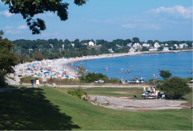 Residents flock to the beach at Rocky Neck State Park in Niantic during warm weather. | Richie Rathsack/Record-Journal