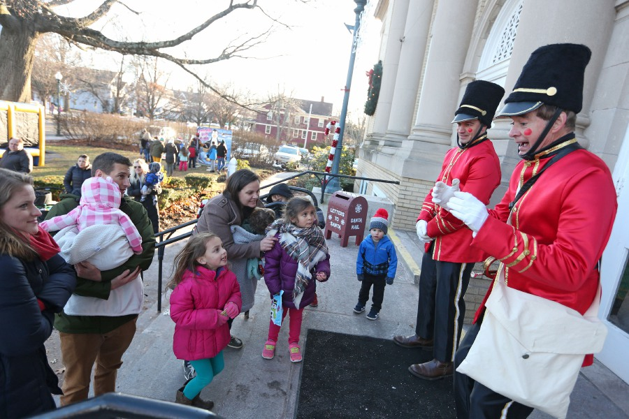 Toy soldiers talk with excited children waiting in line to see Santa and Mrs. Claus during the annual Seasons of Celebration event in Wallingford on Saturday, Dec. 7, 2019. Emily J. Tilley, special to the Record-Journal.
