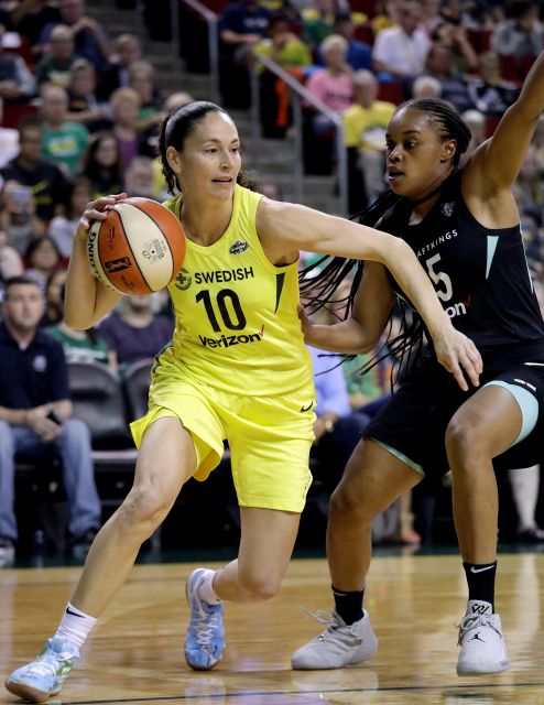 FILE - In this Aug. 17, 2018, file photo, Seattle Storm