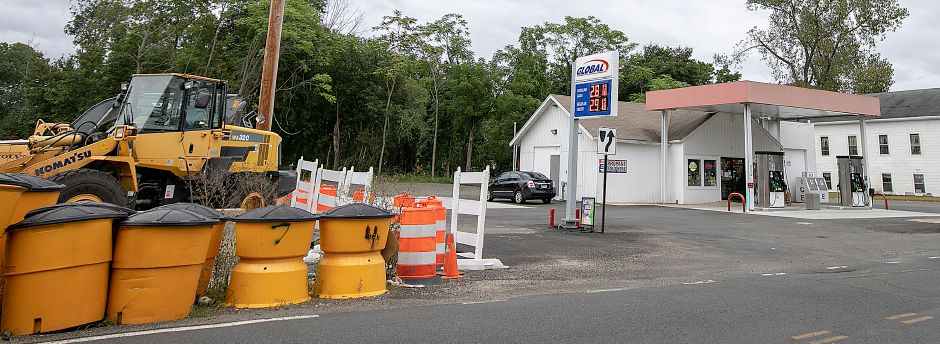Global Food Mart and gas station, 570 Center St., next to the East Center Street bridge construction site in Wallingford, Monday, Sept. 24, 2018. Kevin Nursick, state Department of Transportation spokesman, said it will be at least two more months before work can recommence, and the project is now expected to last until the summer of 2020. Dave Zajac, Record-Journal