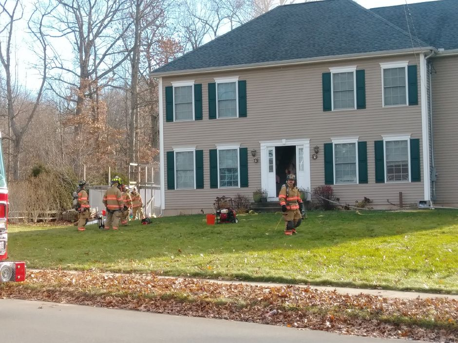 Emergency crews have responded to a house fire on Harrison Road in Wallingford. | Jeniece Roman, Record-Journal