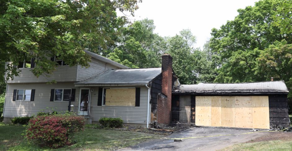 A house at 64 Milton Dr. in Meriden damaged by fire, Friday, May 25, 2018. Dave Zajac, Record-Journal