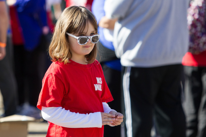 Madalyn Zakrzewski 7 of Southington Sunday during the Walk MS held at Cheshire High School in Cheshire Apr. 17, 2016 | Justin Weekes / For the Record-Journal