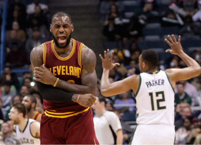 FILE - In this Nov. 29, 2016 file photo, Cleveland Cavaliers