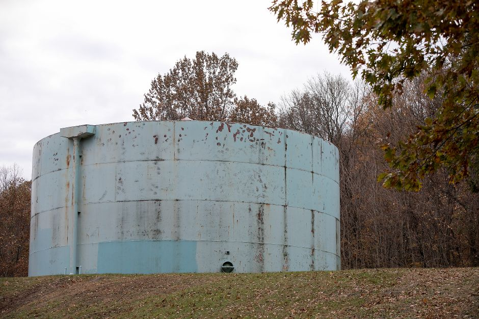 A water tank at the Merimere Filtration Plant in Meriden, Monday, Nov. 13, 2017. | Dave Zajac, Record-Journal