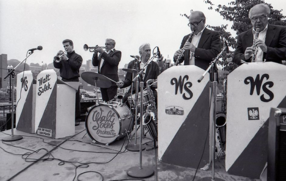 RJ file photo - Walt Solek and his orchestra was just one of several acts performing at the Meriden Expo in the downtown area Oct. 16, 1993.