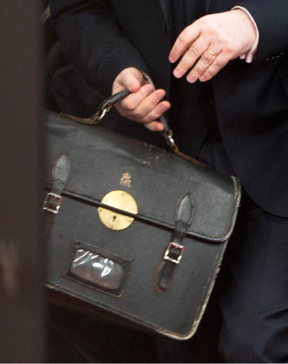 Tim Barrow, the UK Permanent Representative to the EU, carries a briefcase as he arrives at the Europa building in Brussels on Wednesday, March 29, 2017. British Prime Minister Theresa May has signed a letter invoking Article 50 of the bloc