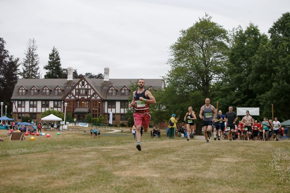 The sold out run boasted over a thousand runners Saturday during the 5th annual Gaylord Gauntlet 5k Trail & Obstacle Race at Gaylord Hospital in Wallingford June 23, 2018 | Justin Weekes / Special to the Record-Journal