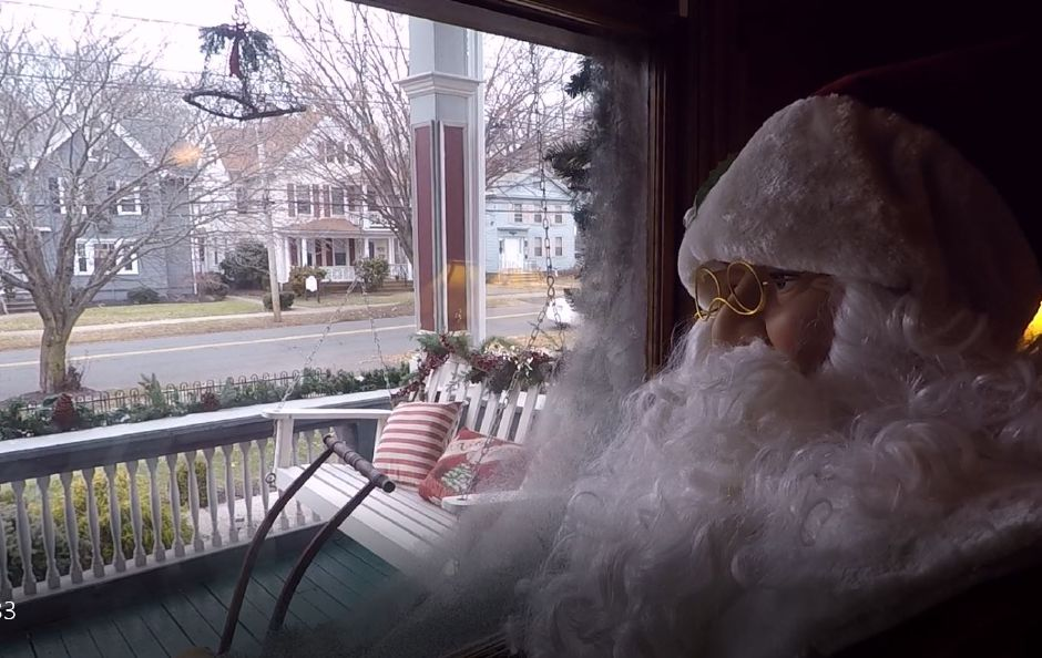A Santa doll stands at the window of The Wallingford Victorian Inn, 245 N. Main St., Wallingford. |Ashley Kus, Record-Journal