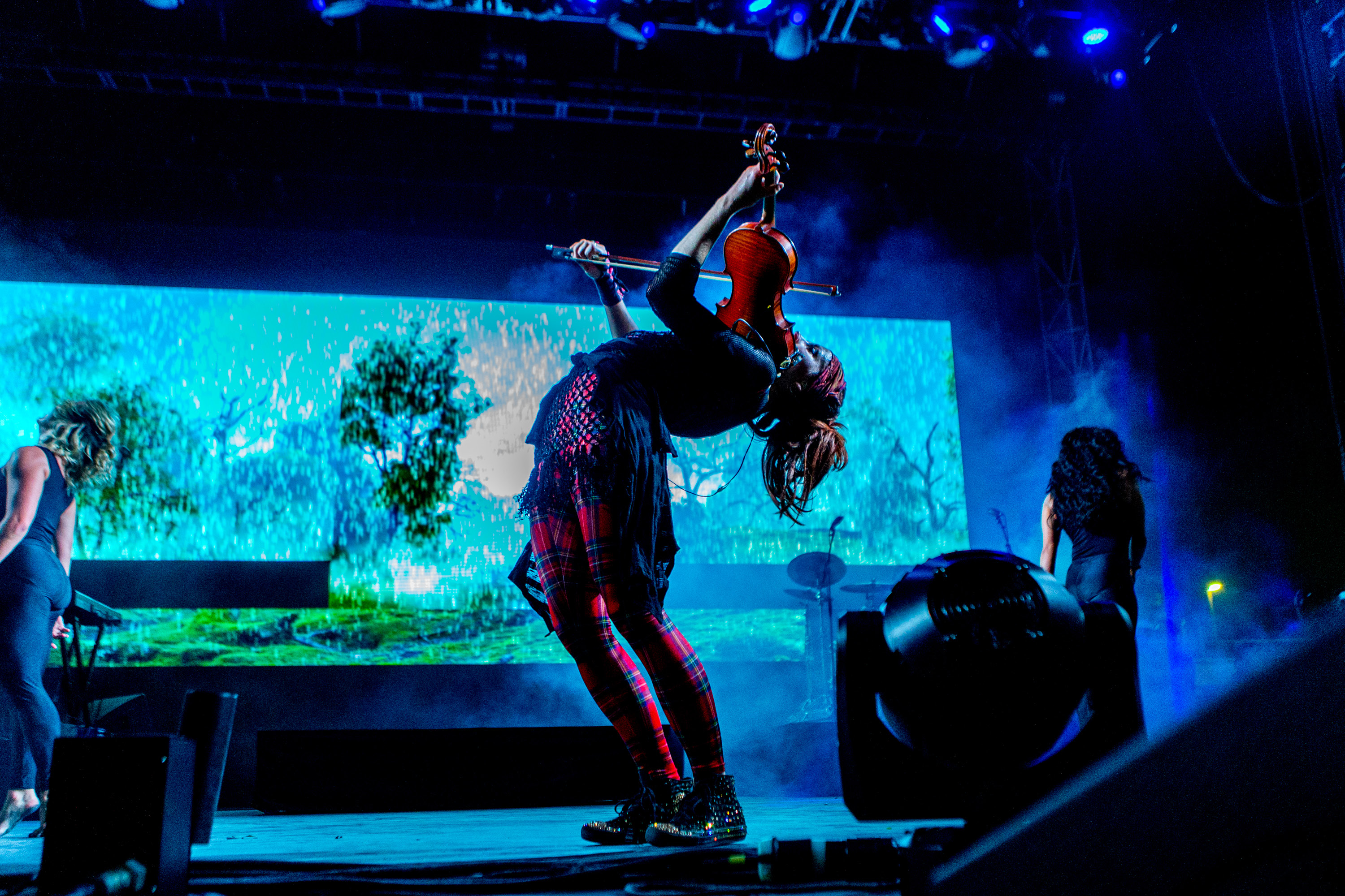 Lindsey Stirling performs during the Life is Beautiful festival on Friday, September 25, 2015 in Las Vegas. (Photo by Paul A. Hebert/Invision/AP)