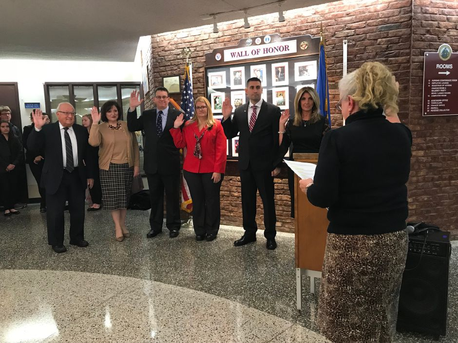 The Town Council at the swearing-in ceremony at Town Hall, Tuesday, Nov.21 |Ashley Kus, The Citizen