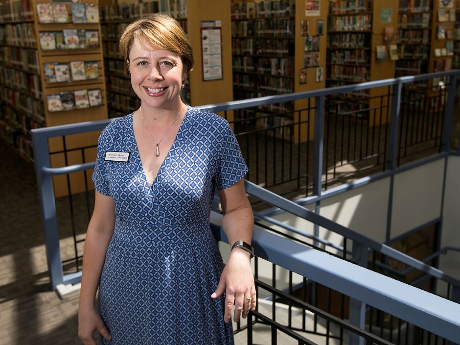 Ramona Burkey, director of the Cheshire Public Library, will be leaving after 13 years of service, Wednesday, May 9, 2018. Burkey has taken a position as director of the Russell Library in Middletown. Dave Zajac, Record-Journal