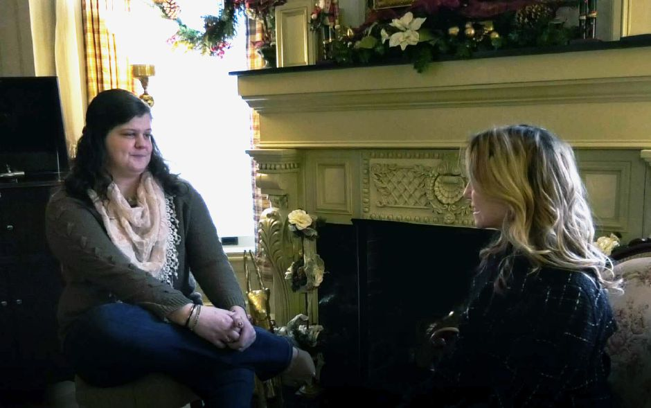 Record-Journal digital content producer Ashley Kus talks with Kenni Ball, innkeeper.