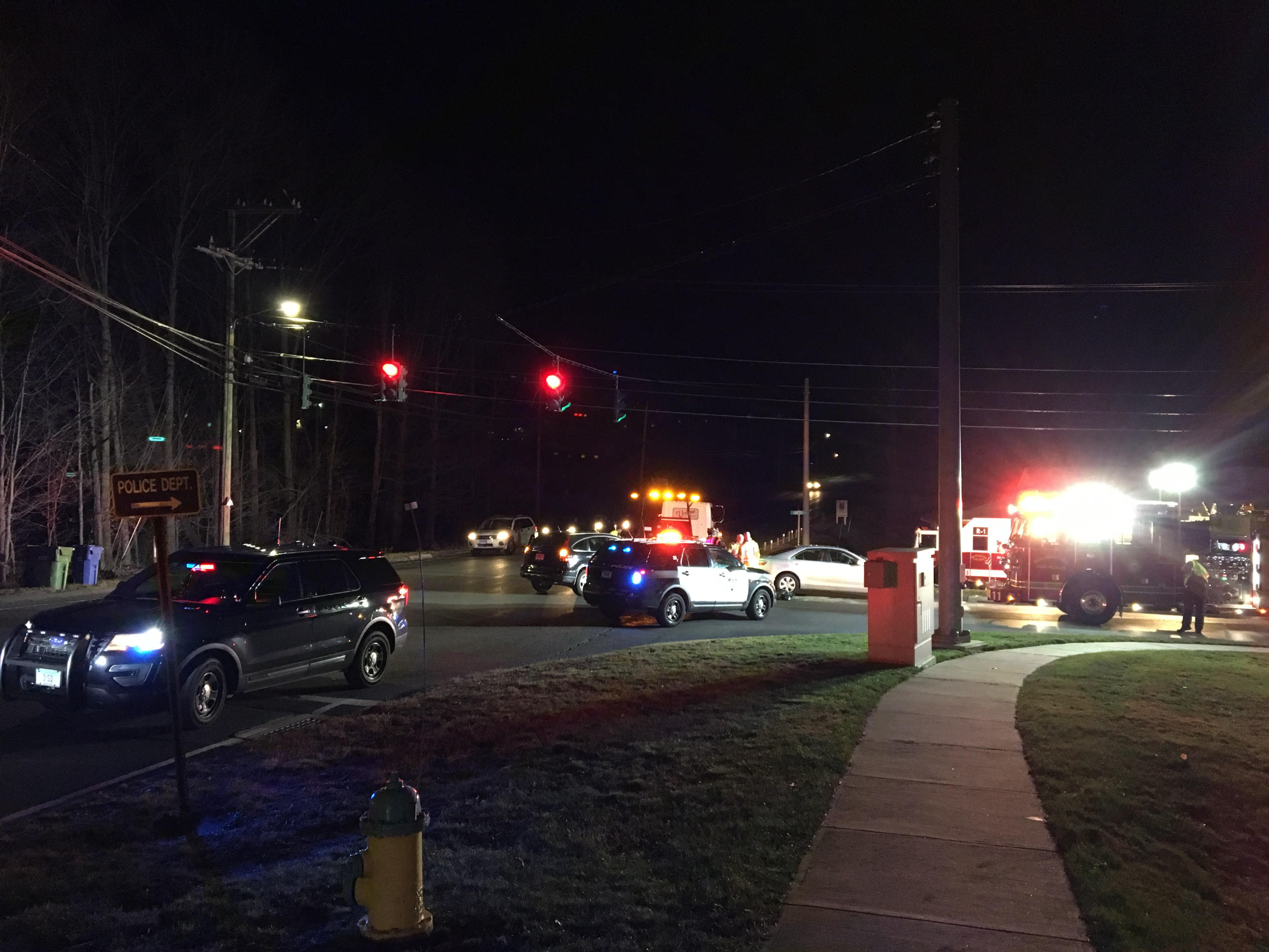 A two-car collision delayed traffic at Curtiss St. and Route 229 in Southington on Thursday, Dec. 1, 2016 | Eric Cotton, Record-Journal