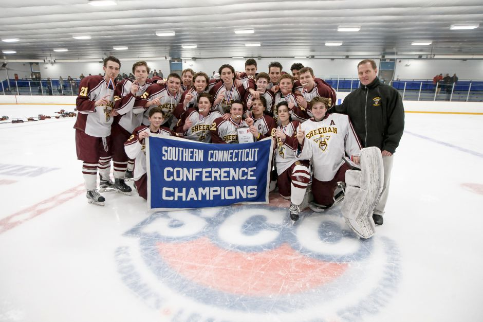 Saturday during the SCC DIII Hockey Finals at Bennett Rink in West Haven March 3, 2018 | Justin Weekes / Special to the Record-Journal