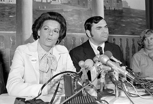 Singer Anita Bryant speaks at a news conference in Boston, Ma., Friday, Sept. 1, 1978. Bryant says the forced cancellation of her scheduled concert is another example of gay rights supporters denying her constitutional rights. Bryant, an outspoken critic of gay rights, is in Boston to endorse a conservative U.S. Senate candidate. (AP Photo)