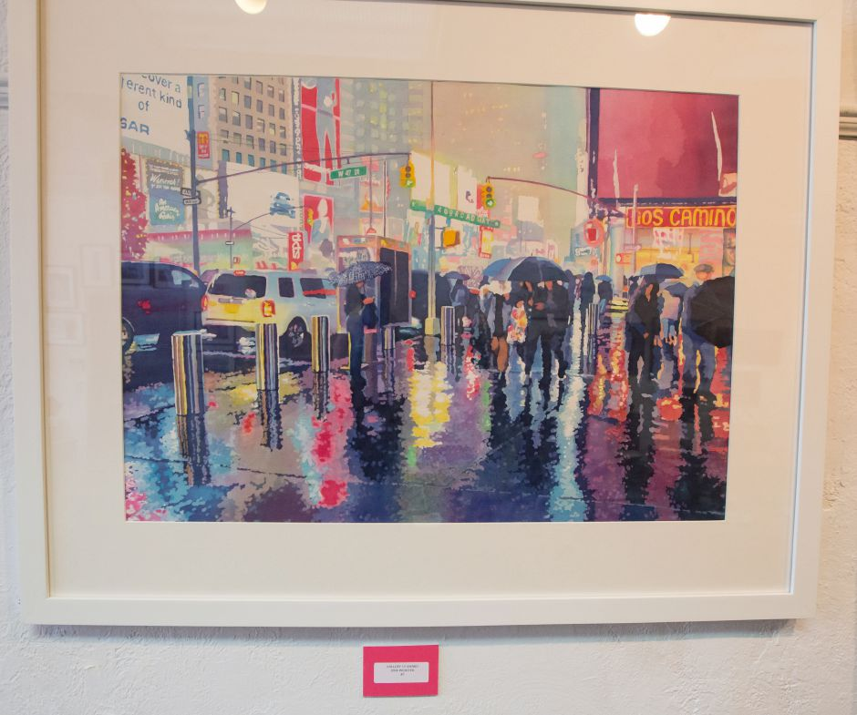 The award for water color June Webster Saturday during Gallery 53