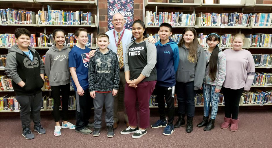 Principal Ray Southland with Washington Middle School March Students of the Month. Washington Middle School recognizes these students whose characteristics and dedication have made a positive impact on both the school and the community. | Contributed photo