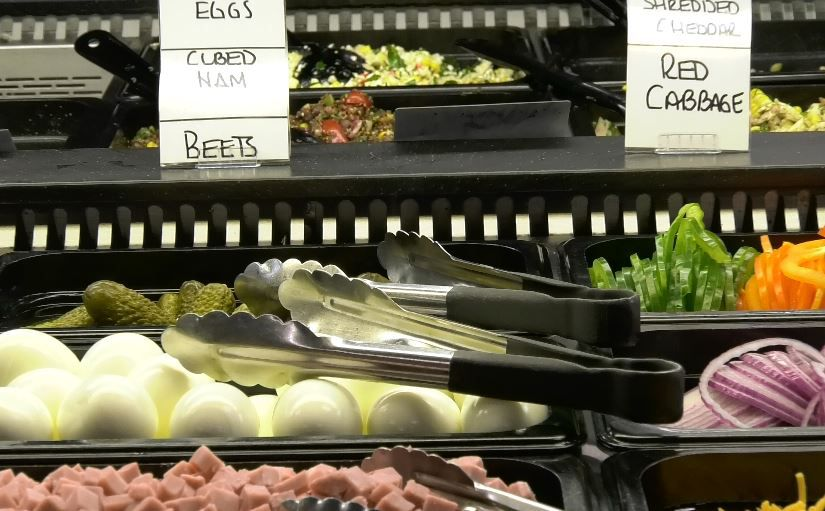 The salad bar at Connecticut Fresh Food & Produce Market, 920 South Colony Road, Wallingford. |Ashley Kus, Record-Journal