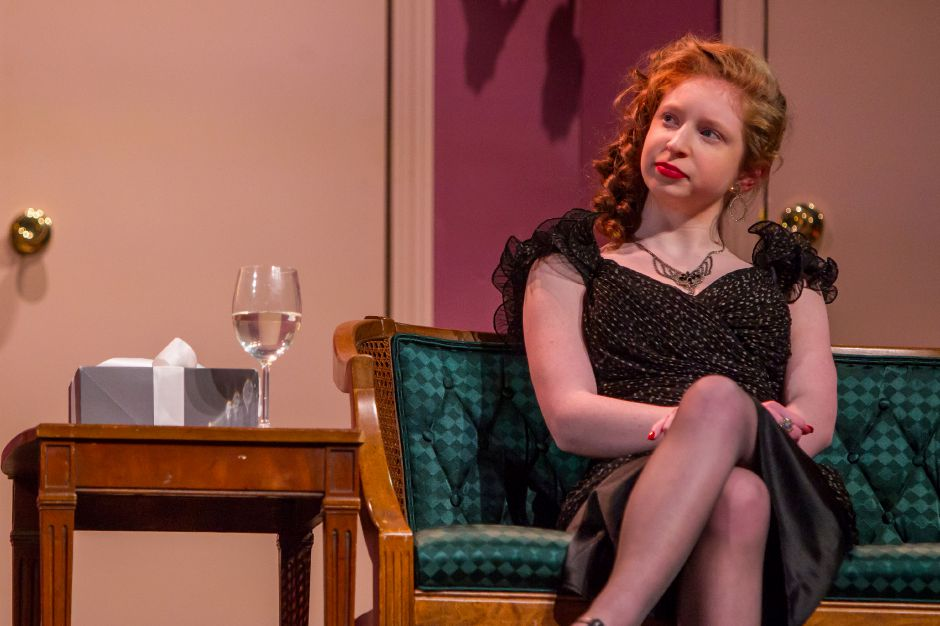 Piper Birney as Claire in the Lyman Hall High School theater production Feb. 6, 2019. | Ron Paris, Special to the Record-Journal