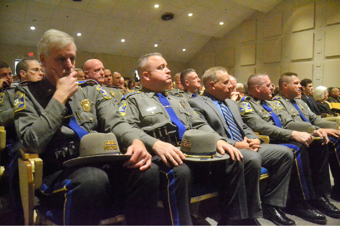 MERIDEN — The Connecticut State Police promoted 20 troopers
