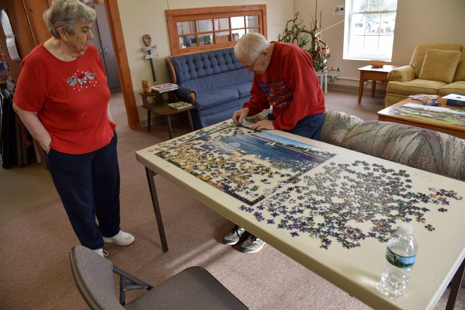 Residents work on a puzzle at the Durham Activity Center, 350 Main St., on Wednesday, Nov. 28, 2018. Residents voted down a referendum Tuesday that would have converted the former Korn Elementary School into a new community center. | Bailey Wright, Record-Journal