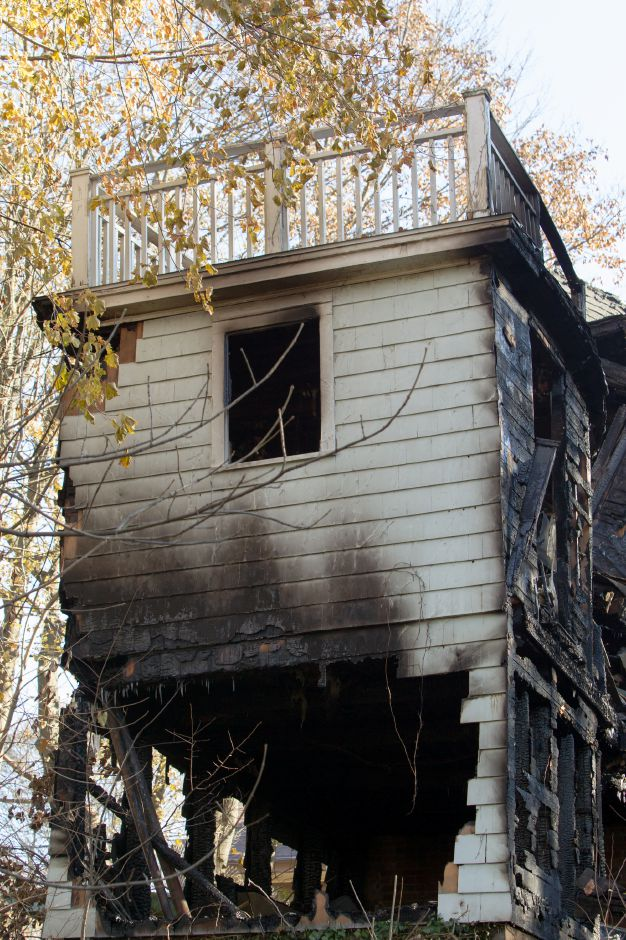 A house at 161 Carpenter Ave. in Meriden was completely destroyed by fire early Thursday morning. Officials reported the fire claimed one life. November 24, 2017 | Justin Weekes / For the Record-Journal