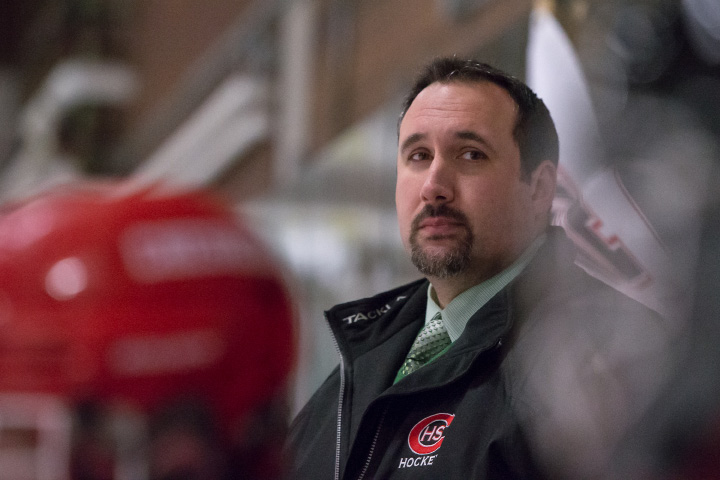 The season came to a close for coach Anthony Giusto and the Cheshire hockey team with a 2-1 loss to New Fairfield-Immaculate in the CIAC Division II quarterfinals Saturday night at Milford Ice Pavilion. | Justin Weekes / For the Record-Journal