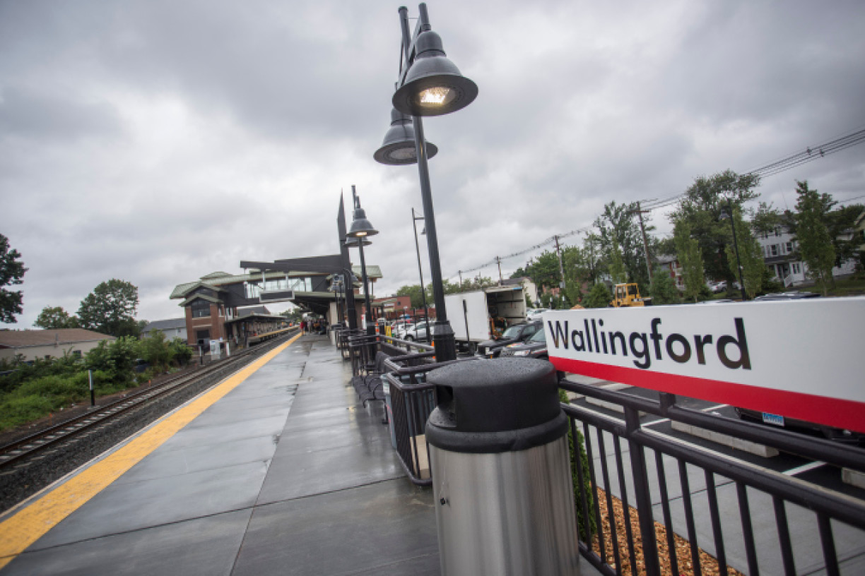 Work continues on the new Wallingford Train Station  July 24, 2017. | Richie Rathsack, Record-Journal