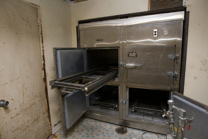The morgue of the former Meriden-Wallingford hospital on Cook Ave., Thursday, January 9, 2014.  |  Dave Zajac / Record-Journal