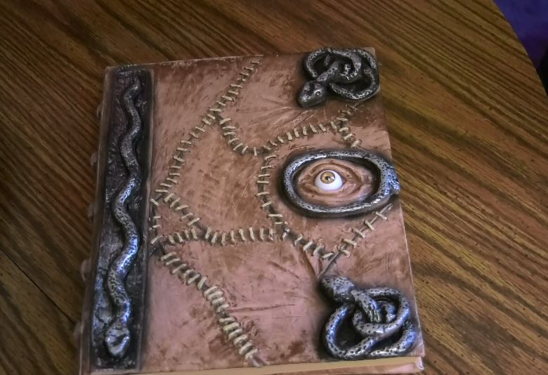 A spellbook that will be used for a witch character made by Jenna Morin, owner of Face Candy Art and Entertainment, Meriden. |Ashley Kus, Record-Journal