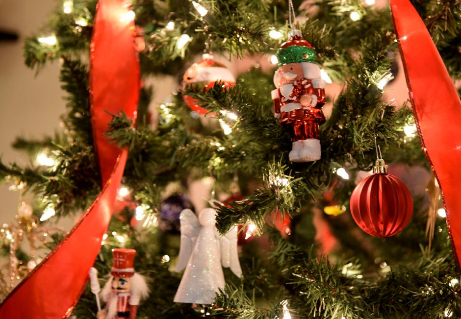 A tree decorated to be raffled at the Coalition for a Better Wallingford during the 9th annual Holiday Stroll in downtown Wallingford on Friday, Dec. 1, 2017. | Bailey Wright, Record-Journal