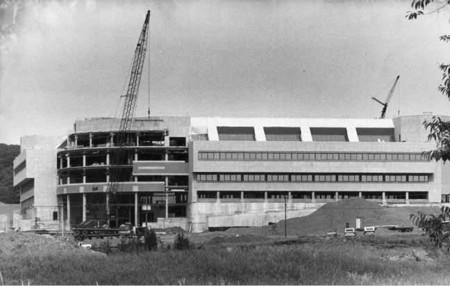 File photo -Contruction takes place on the Bristol-Myers Squib building in Wallingford, January 1986.
