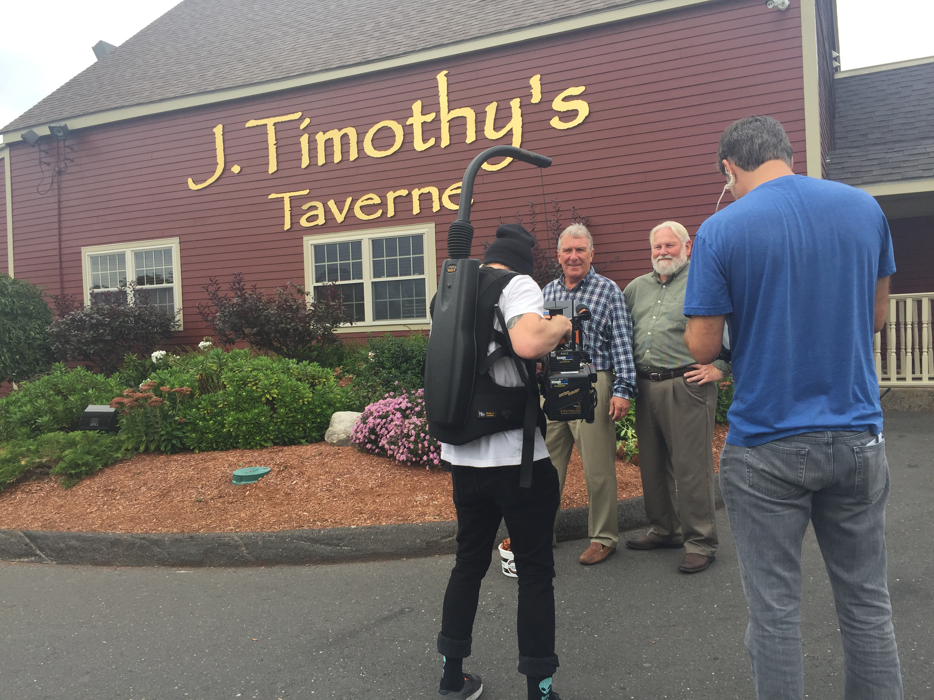 The Travel Channel filmed a segment for Food Paradise at J. Timothy