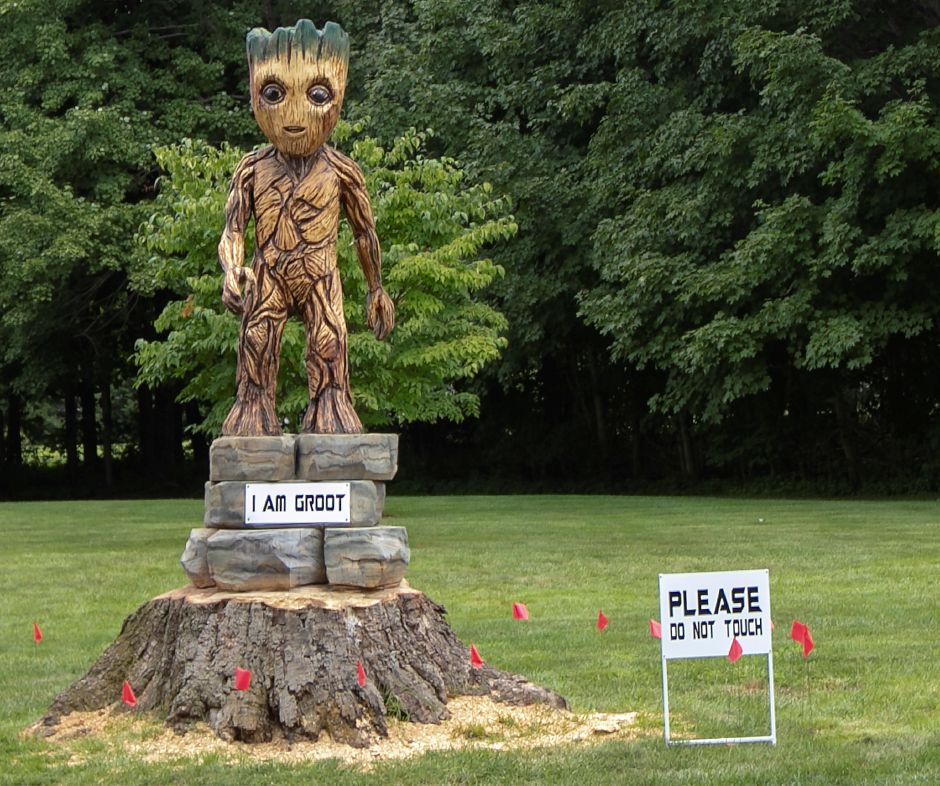 Baby Groot Sculpture Turning Heads In Cheshire