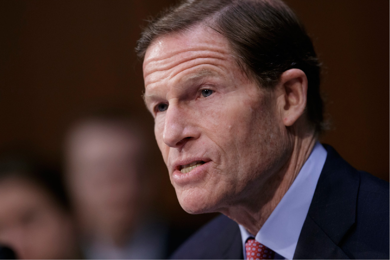 "FILE - In this April 3, 2017 file photo, Sen. Richard Blumenthal, D-Conn. speaks on Capitol Hill in Washington. President Donald Trump on Monday, Aug. 7, 2017, lashed out at Blumenthal, calling him a ""phony Vietnam con artist"" after the lawmaker expressed concerns about the Justice Department"