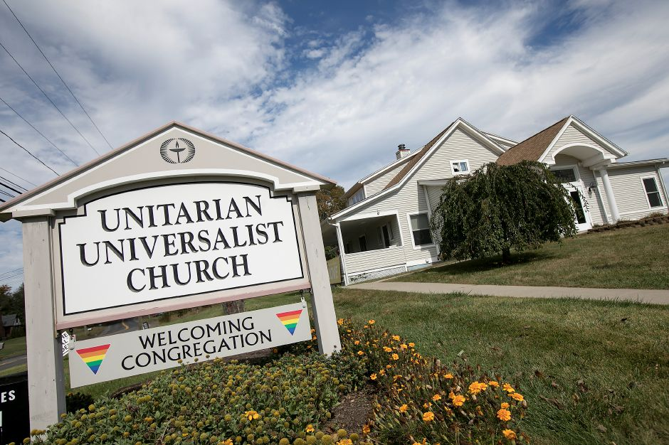The Unitarian Universalist Church on Paddock Avenue in Meriden, Tuesday, October 10, 2017. Sujitno Sajuti, of West Hartford, has taken sanctuary at the Unitarian Universalist Church.    | Dave Zajac, Record-Journal