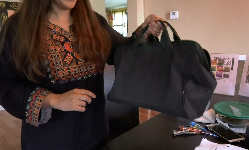 Henna artist Adila Khan carries her henna essentials in a bag from event to event. |Ashley Kus, The Record-Journal