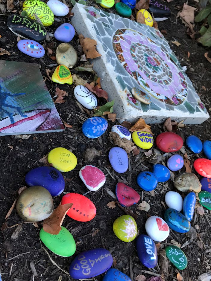 Adding color to the community through painted rocks craze - Painting rocks for garden what kind of paint ...