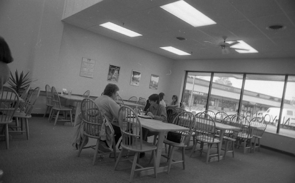 RJ file photo - Puffins luncheonette opened a month ago in a new shopping plaza off Yale Avenue near Route 68, Jan. 15, 1989.