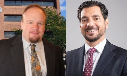 New Britain state Rep. Rick Lopes (left) is running against Attorney Gennaro Bizzarro (right) in next week's special election for the vacant 6th Senate district seat.