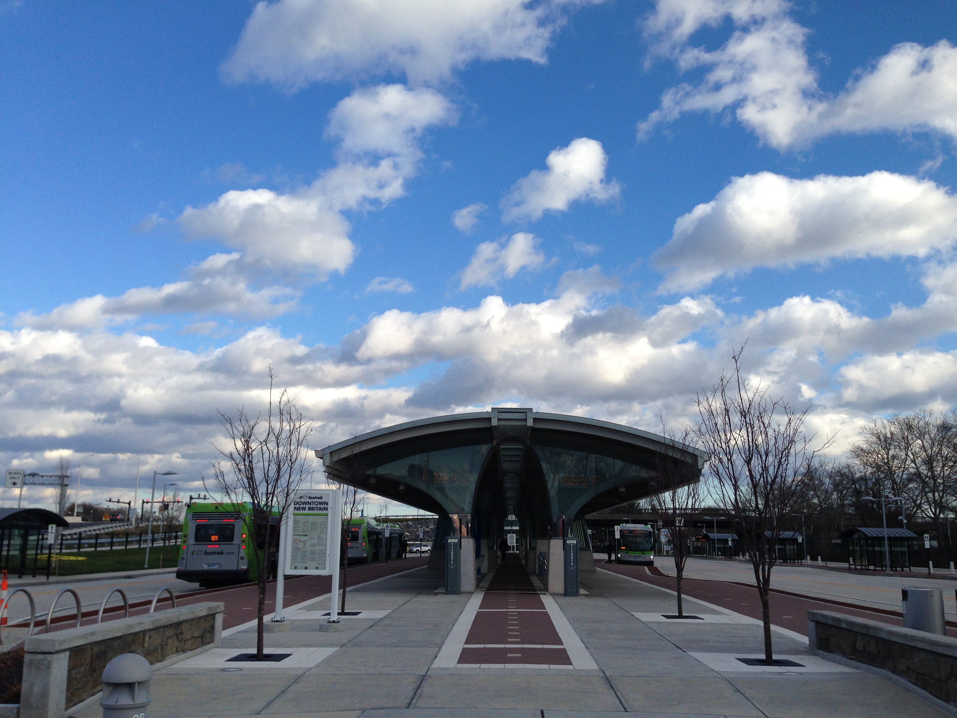 The downtown New Britain CTFastrak station. --Eric Cotton